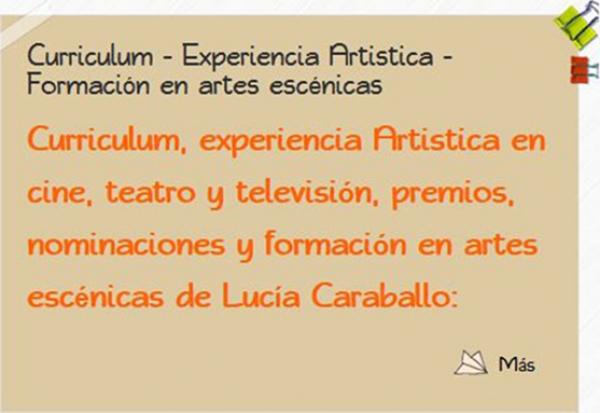 Curriculum - Experiencia Artistica - Formación en artes escénicas